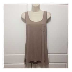 Cynthia Rowley Taupe Pocket Swing Tank